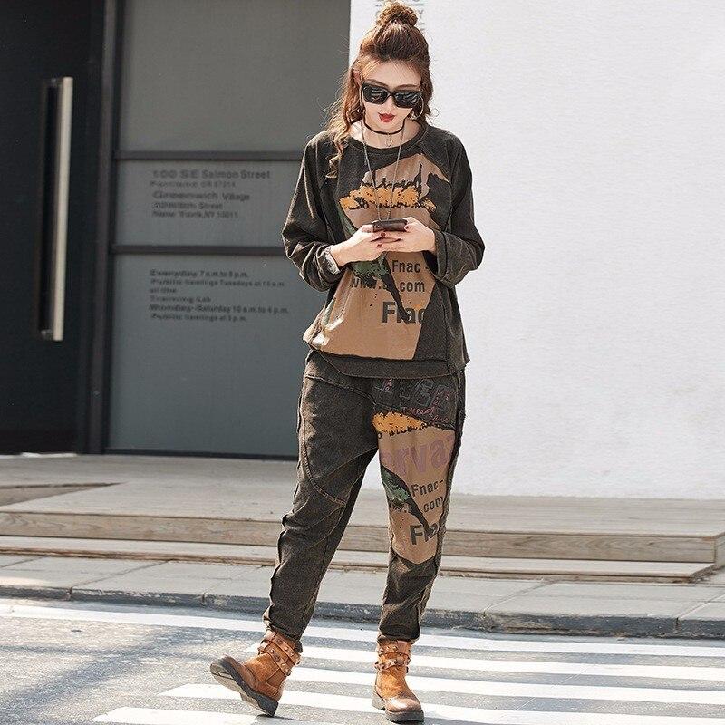 Max LuLu 2019 primavera moda coreana chándal señoras Tops y Pantalones mujer Punk dos piezas conjuntos ropa femenina chándal-in Conjuntos de mujer from Ropa de mujer    2