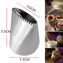 big Nozzle 55mm Basket Weave Cream Stainless Steel Tips  Icing Piping Nozzles Cake Decorating Cupcake Pastry Tools