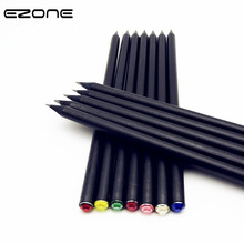 EZONE 12Pcs/Set Pencil HB Diamond Stationery Drawing Sketches Kids For School Basswood Pencils Office Student Gift