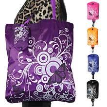 55bb76b5b600 Складной Цветочный Большой ёмкость хозяйственная сумка Хранение продуктов  сумка(China)