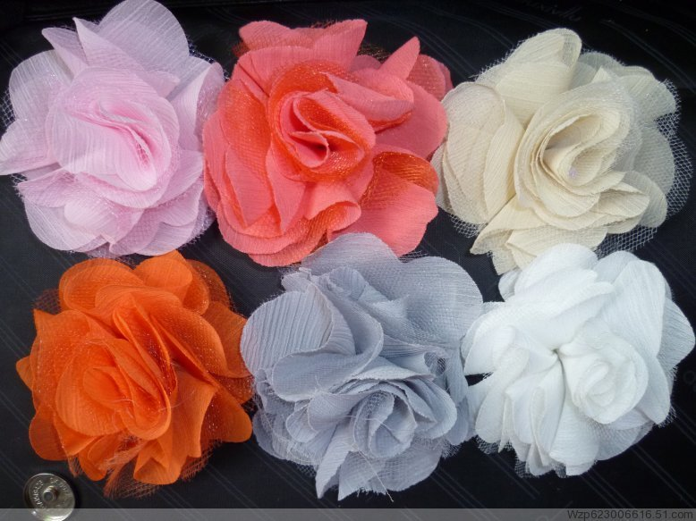Silk craft flowers crafting 10yards lot cream colour sun flower fabric craft sewing mesh trim mightylinksfo