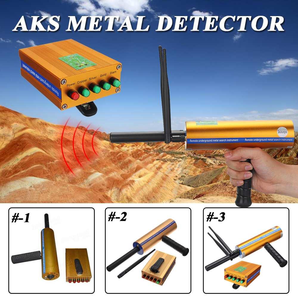 En plein air AKS 3D Poignée Antenne Métal Détecteur Locator Scanner Or Minérale Détection Machine 14/25 Mètres Deepth Détecteur