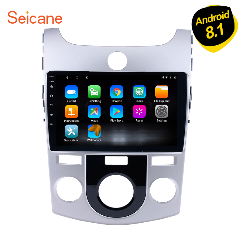 Seicane 9 inch Android 8.1/7.1 Car Radio GPS Navi Multimedia Player for 2008-2010 2011 2012 KIA Forte(MT) Audio Stereo SWC WiFi