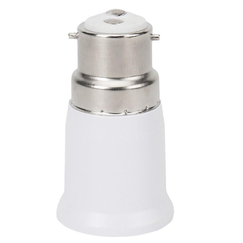 2pcs Fireproof Plastic B22 To E27 Socket Adapter Conversion Lamp Holder Lighting Accessories Base Converter For LED Light Bulb 3