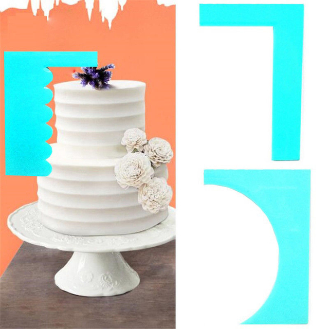 Scraper Smoother  Baking Supply 1pc New Spatula  Cake Decoration Pastry Edge 8 Style Fondant Fashion Plastic  Mousse