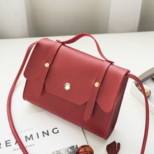 Solid color shoulder bags for women small handbag mini female crossbody leather tote messenger soft