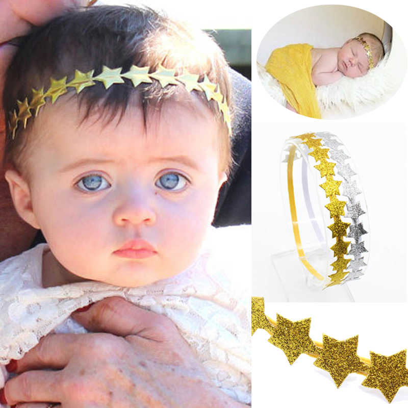 Baby Girl Headband Elastic Star Shape Bling Baby Hair Accessories For Newborn Photography Props Princess Baby Girl Headbands