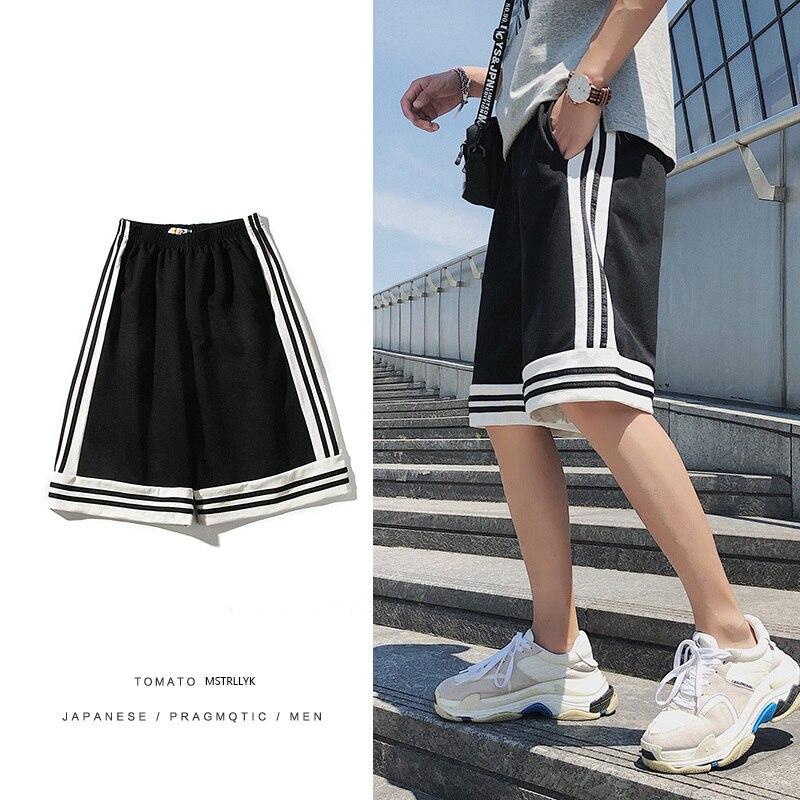 Men's Shorts 2019 Summer New Slim-Cut Schoolboy Shorts Men's Five-Minute Pants Baggy Casual Shorts Personality Teen Men's Wear