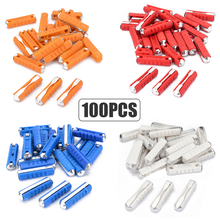 20/40/100pcs Classic Car Auto Fuses Kit Ceramic Continental Fuse Torpedo Bullet 5A 8A 16A 25A For Vintage Cars