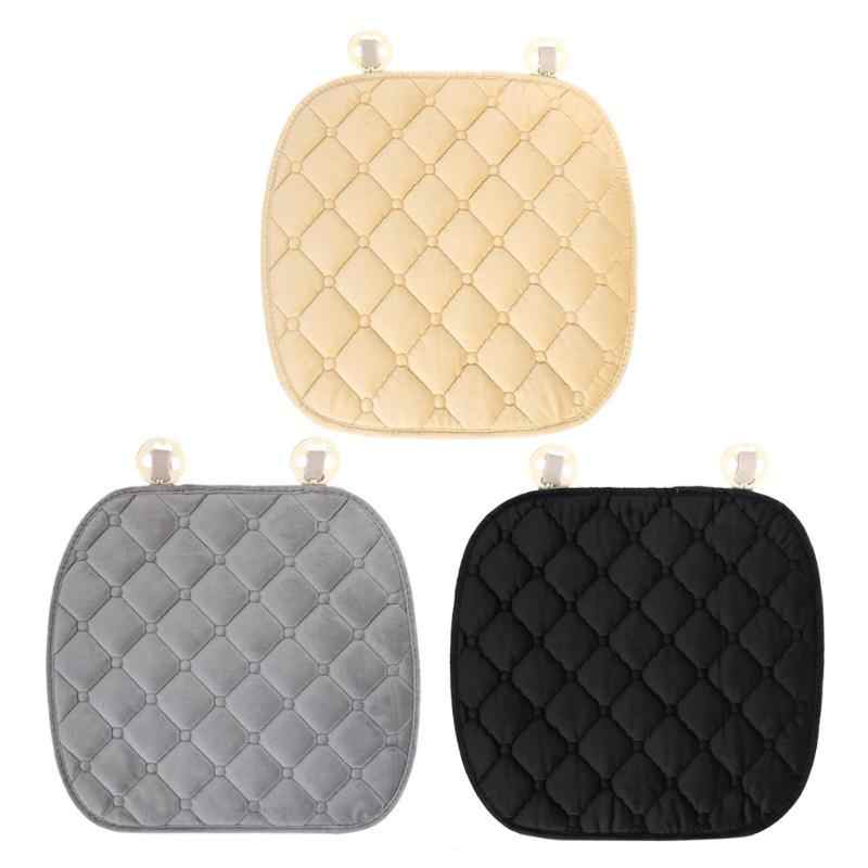 1Pcs Car Seat Cushion Winter Non-slip Car Cushion Keep Warm Diamond Car Seat Cover Mat Car Accessories