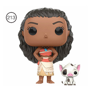 Image 5 - Original FUNKO Disney Princess Cinderella Tiana Moana Half immortal Maui Action Figure Toys Model Christmas Kids Birthday Gift