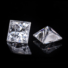 3.5*3.5mm Princess Cut VVS Moissanite Super White Diamond 0.24 carat for Jewelry