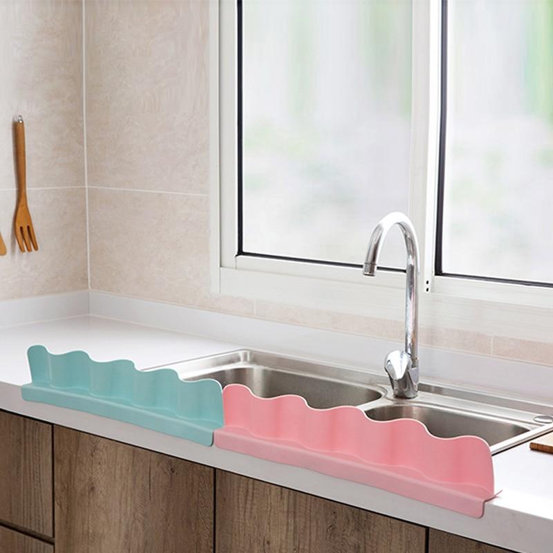 Pk Bazaar Hot Sale Bathroom Portable Basin Sink Water Baffle Splash