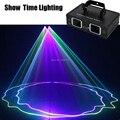 Heiße verkäufe 2 Objektiv Rot Grün Blau RGB Strahl Laser Licht DMX 512 Professionelle DJ Party Zeigen Club Urlaub Hause bar Bühne Beleuchtung