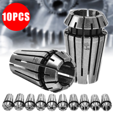10pcs/set High Hardness ER16 Spring Collets for Industrial Use Milling Machines 1/2/3/4/5/6/7/8/9/10mm Spring Collet Set