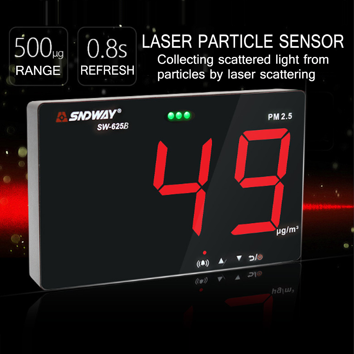 Digital Air Quality Monitor Laser PM2.5 Detector Gas Monitor Analyzer Meter Diagnostic Health Care ToolDigital Air Quality Monitor Laser PM2.5 Detector Gas Monitor Analyzer Meter Diagnostic Health Care Tool