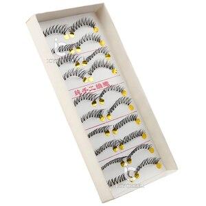 Image 4 - رموش صناعية من ICYCHEER تحتوي على 10 أزواج من شعر المنك الطبيعي/الكثيف رموش طويلة للعين أدوات تمديد مجنحة للمكياج فوضوي