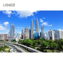 Laeacco Exterior Buildings Blue Sky Cloud Backdrop Photography Backgrounds Customized Photographic Backdrops For Photo Studio цена
