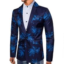 Tuxedos Blazer Red Blue flowers Digital printing Suit dress Stage One Button Camisa masculina Jackets Mens Suits