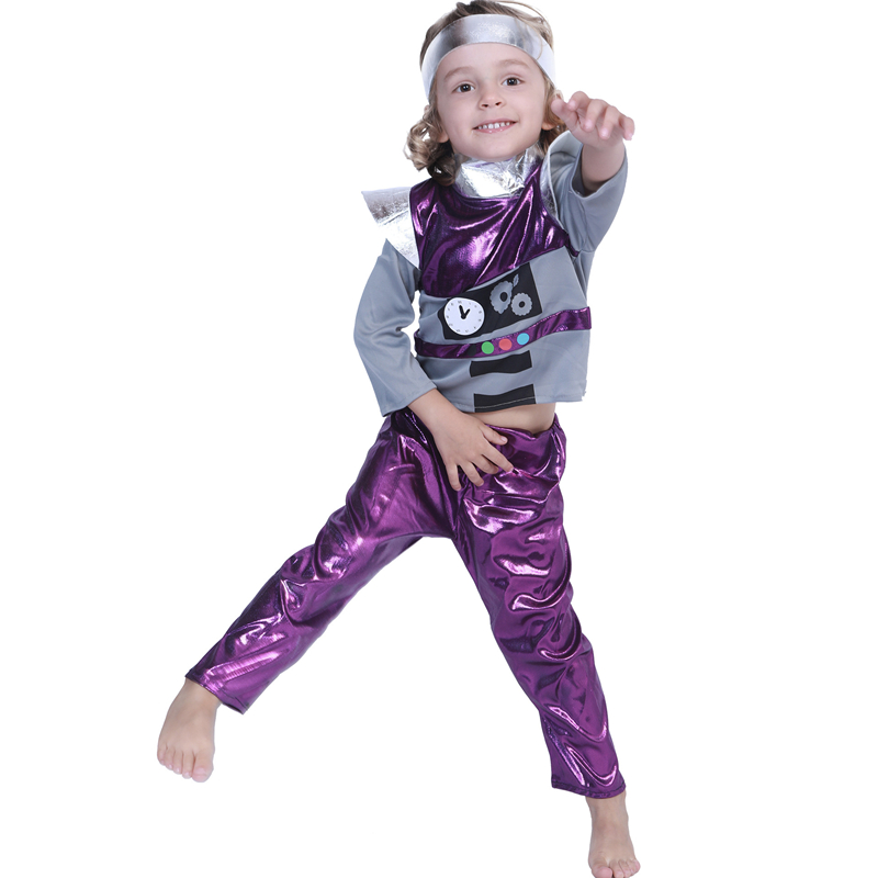 Robot Costume Kids Robot Cosplay Costume Children Halloween Costume For Kids Carnival Performance Party Suit