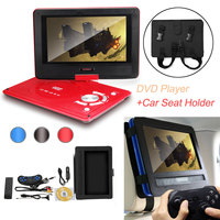 Portable DVD Player Video Games Supports SD Music Playing+10 Inch Oxford Fabric Cover Bag Car Headrest Mount Holder