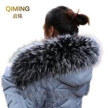 Модная шаль, свитер, пальто, воротник, шарфы, роскошный мех енота, шея, шапка, зима, натуральный мех, воротник и шарфы, женский шарф L52