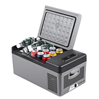 15L Car Refrigerator Portable Cooler Home Fridge Compressor AC/DC LED Display Freezer for Picnic Camping Party Cooling 20 Deg.C