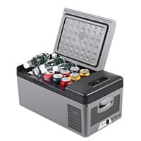 20L Car Refrigerator Portable Cooler Home Fridge Compressor AC/DC LED Display Freezer for Picnic Camping Party Cooling 20 Deg.C
