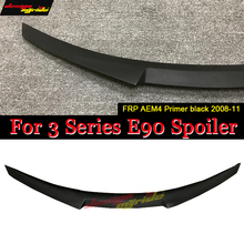 For BMW E90 Spoiler trunk wing tail M4 Style FRP black 3-series 318i 320i 328i 335d 330i 350i 340i Tail trunk spoiler wing 05-11 white yellow turning signal concept m4 iconic style led angel eye for bmw 3 series f30 320i 328i 335i 330i 340i 318i 330e 13 17