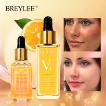 Breylee Vitamin C Essence Whitening Serum Face Skin Care Repair Hyaluronic Acid Moisturizing Wrinkle Freckle Spots Removal 2 Pcs