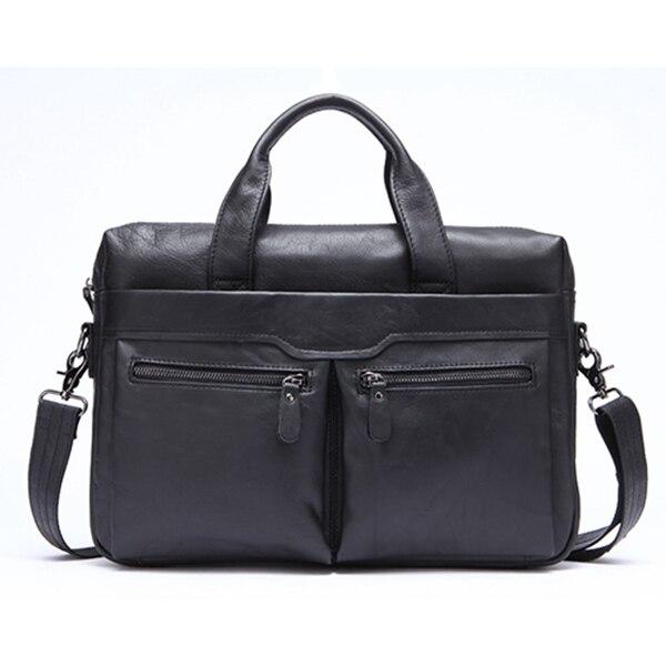 NEW-Mva Handbag Shoulder Briefcase Leather Business Men'S Bag Leather Shoulder Bag