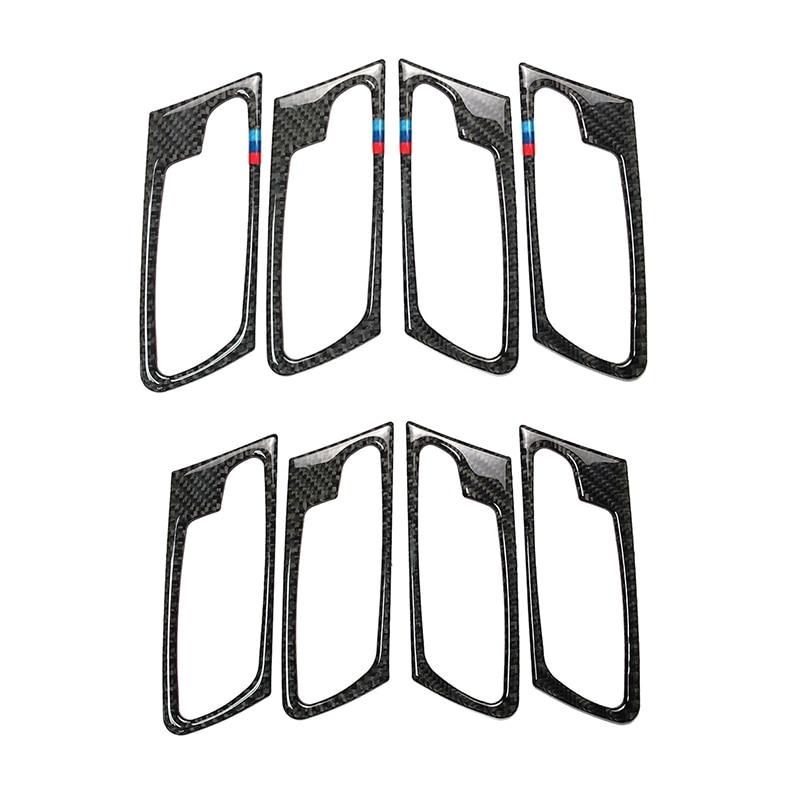 For BMW X5 X6 E70 E71 2009 2010 2011 2012 2013 4pcs/set Car Carbon Fiber Door Handle Door Bowl Cover-in Interior Mouldings from Automobiles & Motorcycles