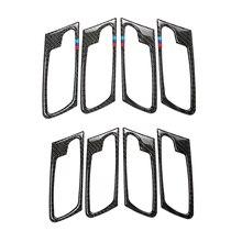 For BMW X5 X6 E70 E71 2009 2010 2011 2012 2013 4pcs/set Car Carbon Fiber Door Handle Door Bowl Cover
