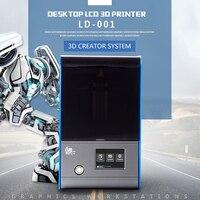 3,5 дюймовый полноцветный 2 K ЖК экран настольный свет отверждения 3d принтер 120*70*120 мм ЖК экран свет литья 3d принтер