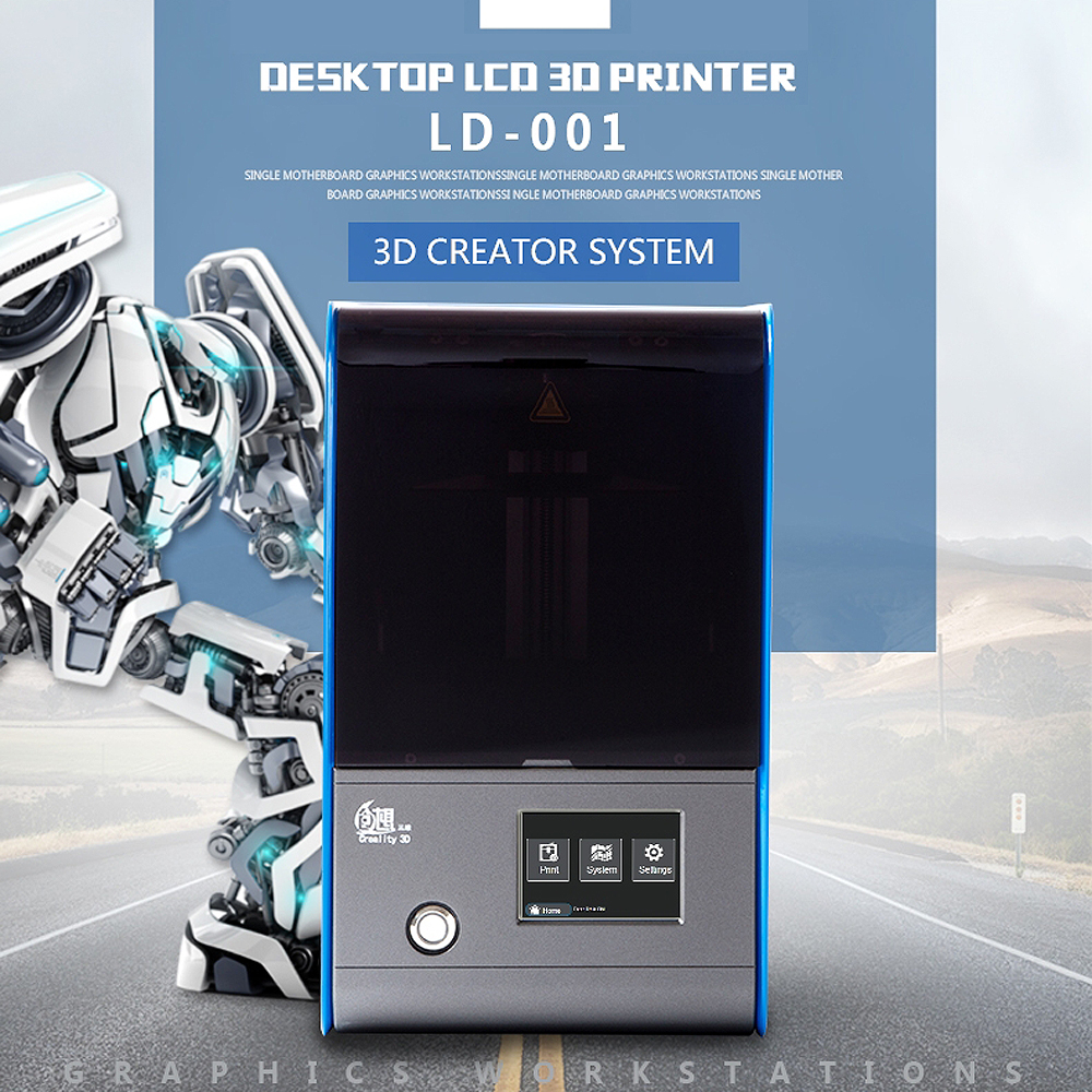 3.5-inch Full Color 2K LCD screen Desktop Light-curing 3D Printer 120*70*120mm LCD Screen Light Molding 3D Printer цена