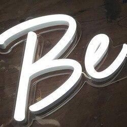Оптовая продажа exw цена led красочные гибкие неоновые вывески буквы для украшения магазина