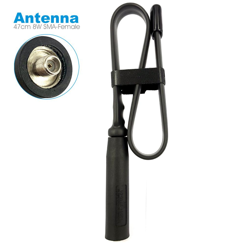 Folding Tactical Antenna SMA-F Female For Baofeng UV-5R UV-82 Kenwood Hyt Radio 47cm VHF UHF 136-520MHz 8W Walkie Talkie Antenna