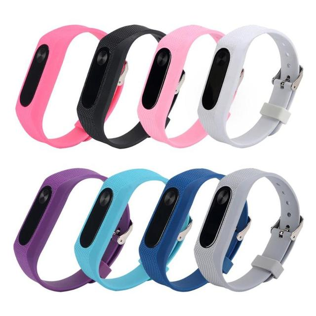 220mm Colorful Silicone Bracelet Strap For Miband 2 Strap Wristband Belt Replace