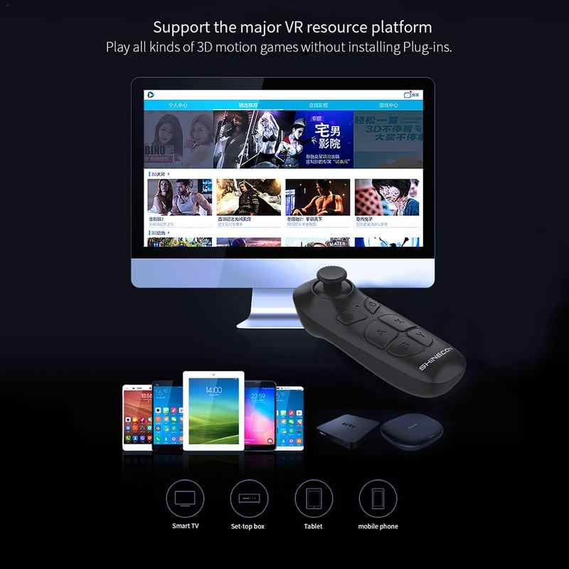 SHINECO 10 0 Integrated VR Virtual Reality Headset Smart Phone 3D Movies  Games Video Glasses With Bluetooth Remote Control