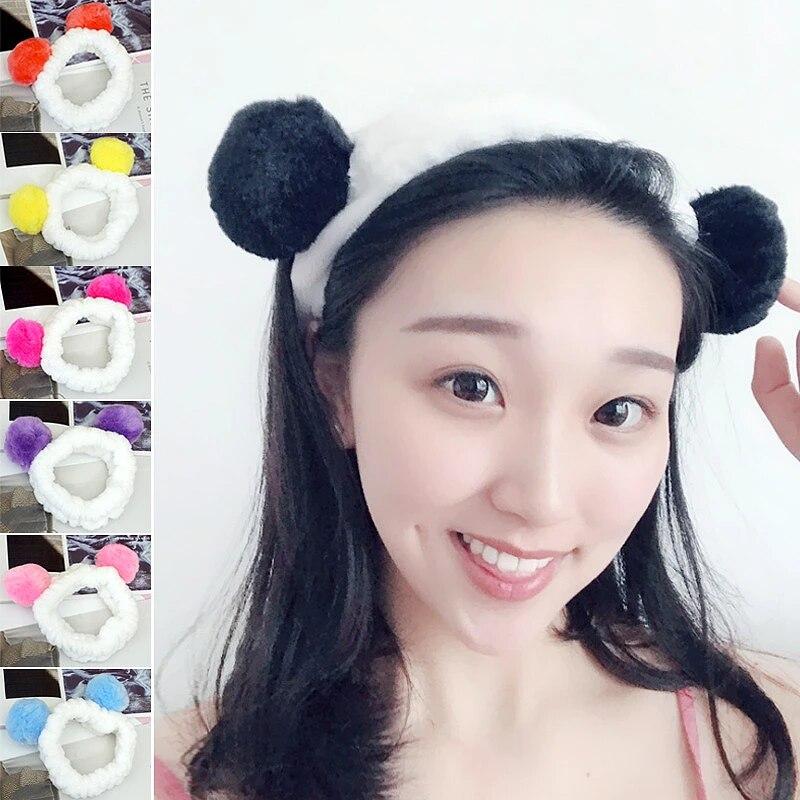 Hot Cute Panda Headband For Washing Facewrap Makeup Women Carol Shower Ear Shower Spa Hair Band Soft Hair Accessories Women S Hair Accessories Aliexpress