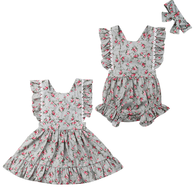 0c2b14994 Mommy And Me Dresses Floral Matching Mother Daughter Clothes Casual Women  Party Dress Kids Girls Dress Beach Family Outfits