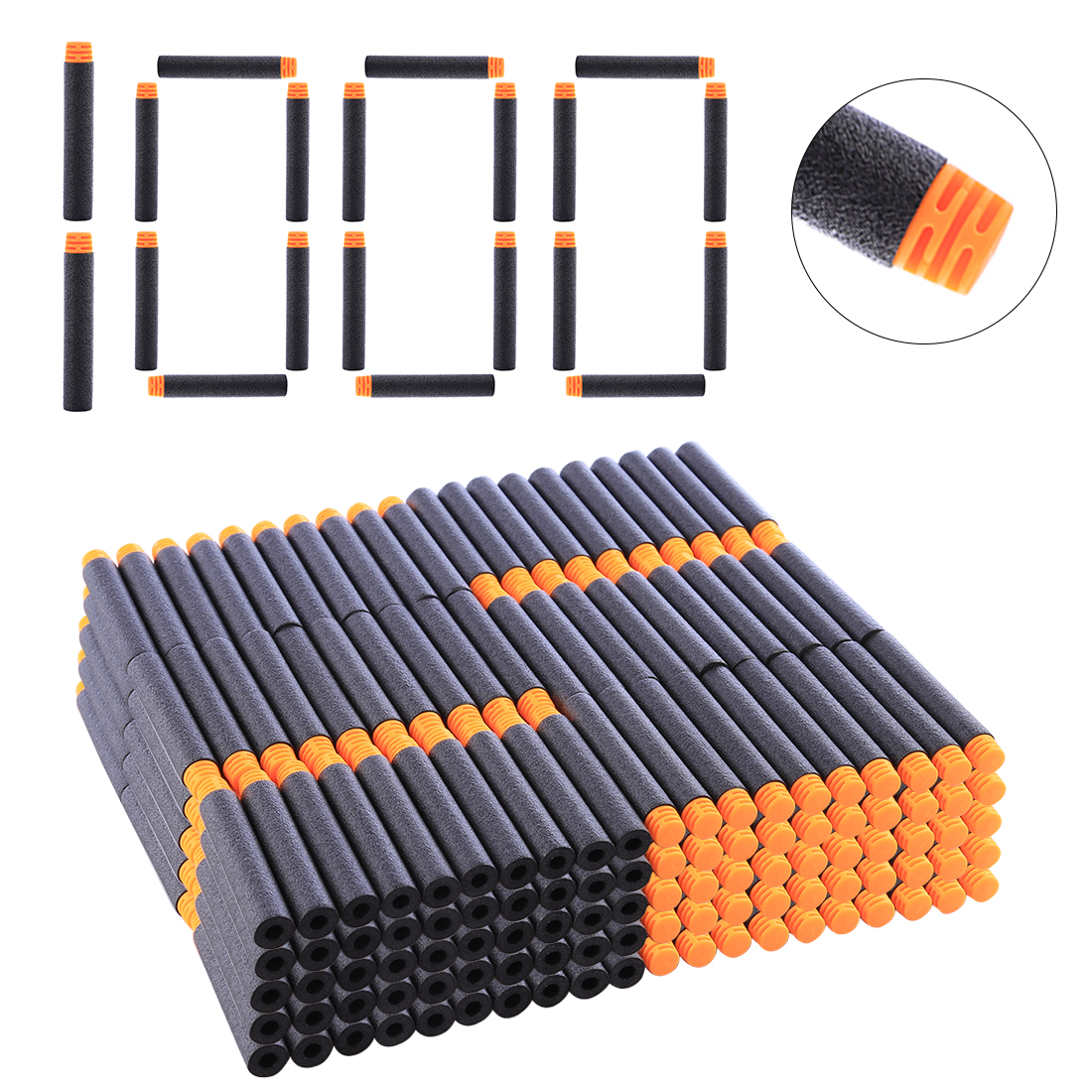 High Buffered Soft Bullet Flat Head Soft Darts With Orange Head For Nerf Children Outdoor Shooting Prictice Accessories