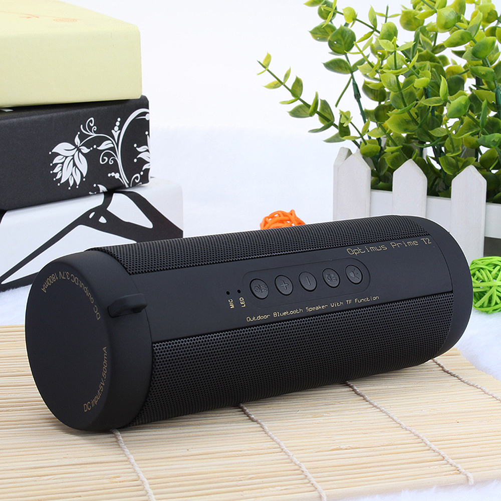T2 Outdoor Portable Bluetooth Speaker Wireless Waterproof Speaker Mini Speaker Mp3 Player Support FM Radio Speaker TF Card in Portable Speakers from Consumer Electronics