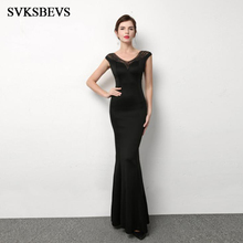 SVKSBEVS Luxury Crystal Deep V Neck Bodycon Mermaid Long Dresses Elegant Party Sexy Illusion Backless Maxi Dress svksbevs luxury crystal sexy deep v neck mermaid long dresses elegant spaghetti strap backless party maxi dress