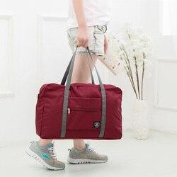 طوي السفر حقائب النساء قدرة كبيرة حقيبة ظهر قطنية السفر المنظم بين عشية وضحاها حقيبة مكعبات تعبئة نهاية الأسبوع أكياس حقيبة محمولة