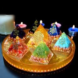 2019 Orgonita Piramide Auras ручная работа энергия семь чакр здоровье богатство помощь карьера Любовь Семья счастливые ювелирные изделия оптом