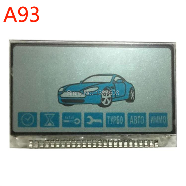 2pcs/lot Russian A93 LCD Display for two way Keychain StarLine A93 A63 2-way Remote control Key Chain Fob