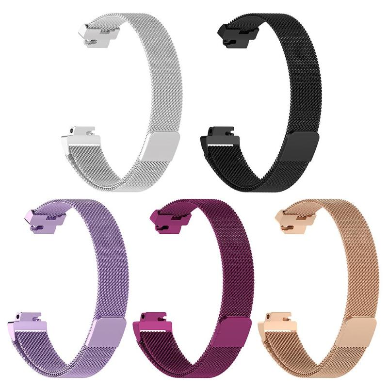 Magnetic Milanese Watch Strap Wrist Band for Fitbit Inspire/Inspire HR L