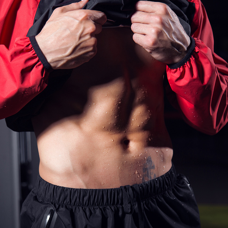 Men Sauna Suit Heavy Duty Fitness Sportswear Sweating Jacket Sauna PantsTrainning Sports Set Running Loss Weight Clothing 4XL  Men Sauna Suit Heavy Duty Fitness Sportswear Sweating Jacket Sauna PantsTrainning Sports Set Running Loss Weight Clothing 4XL