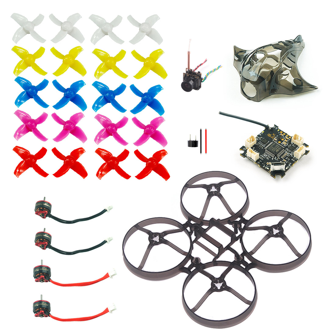 Crazybee F3 Pro FC Mobula7 V2 Frame Canopy SE0802 1 2S Brushless Motor 40mm Propellers Replacement Parts for Mobula 7 Quadcopter